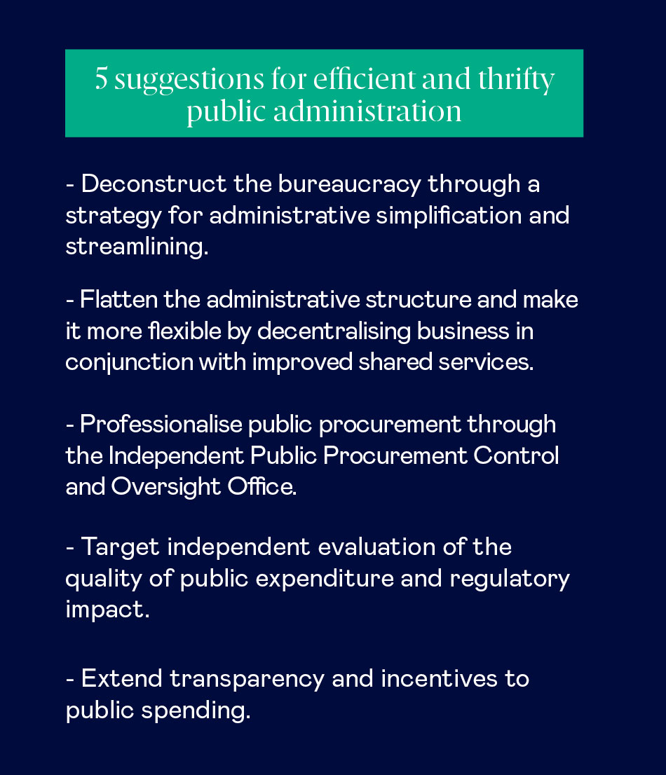 Public administration efficiency suggestions
